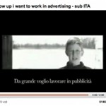 "Video Youtube ""When I grow up, I want to work in advertising"""