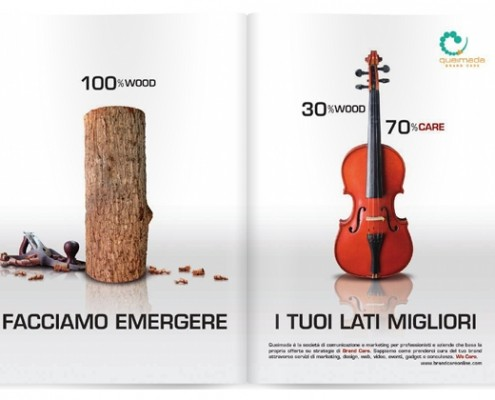 Queimada-Brand Care campagna stampa corporate