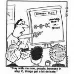 La figura professionale dello strategic planner - vignetta via thereisnobox.wordpress.com