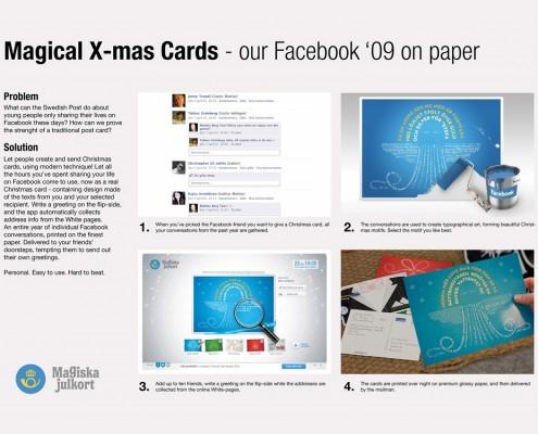 "Swedish Postal Service ""Magical X-mas Card"""