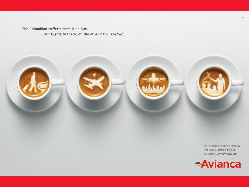 "Avianca ""Coffee"" - campagna pubblicitaria"