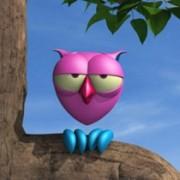 The owl - cartoon 3D