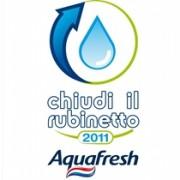 """Aquafresh """"Chiudi il rubinetto"""" - risparmio idrico"""