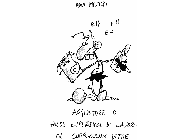 Nuovi mestieri - cartoon