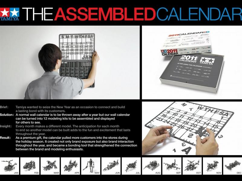 The assembled calendar - gadget by Tamiya