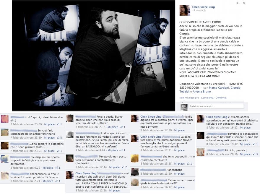 """Giorgio Tebaldi - campagna di sensibilizzazione """"cucciolo di musicista"""""""