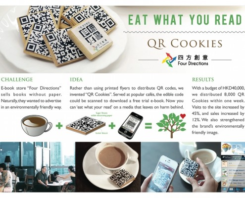 "Four Directions QR-cookies ""Eat what you Read"""