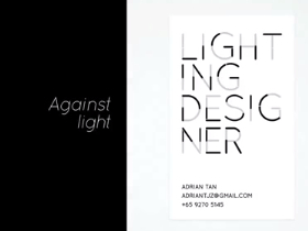 Lighting Designer - business card
