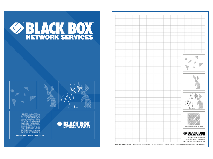 Black Box - block notes and folder