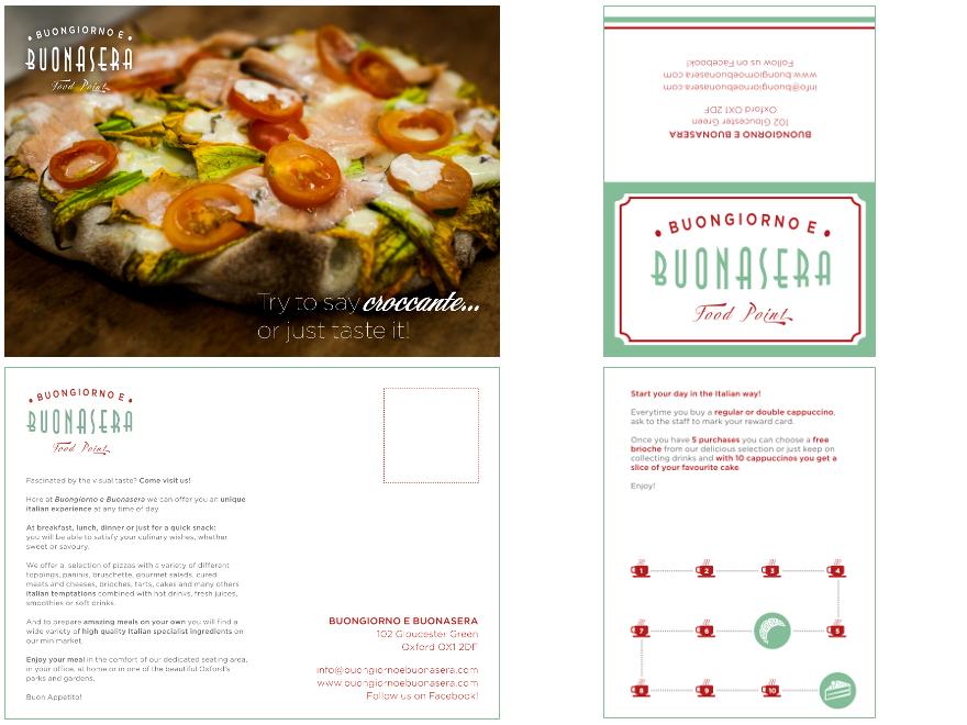 Buongiorno e Buonasera - postcard and business card