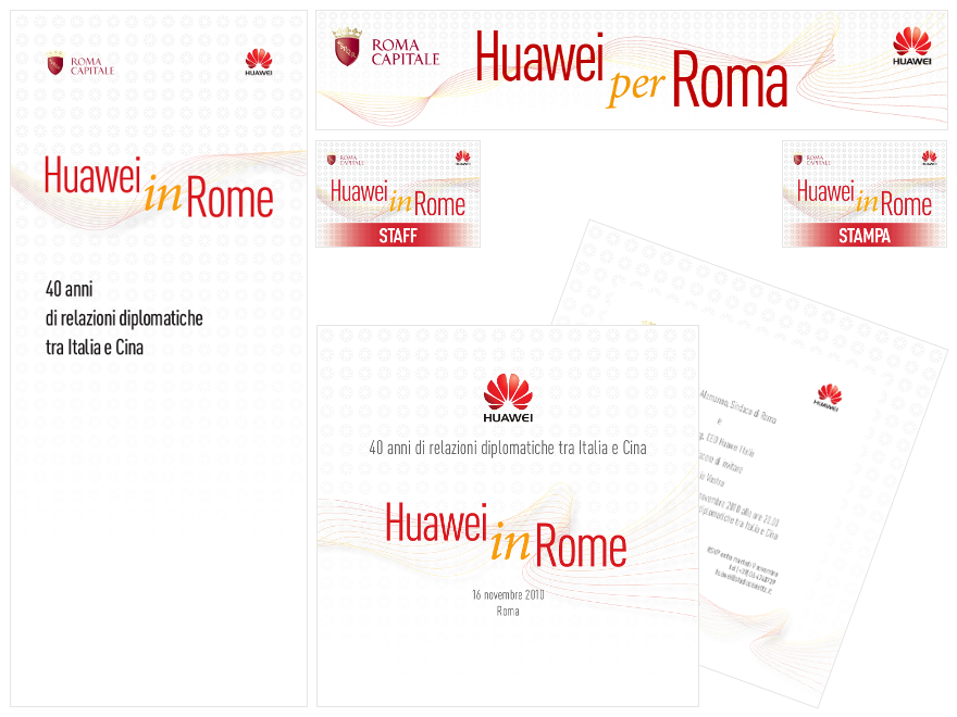 Huawei - event brand identity