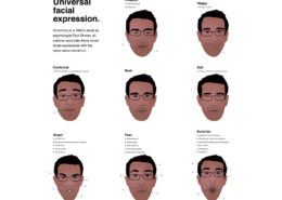 Personal brand infographic - universal microexpressions