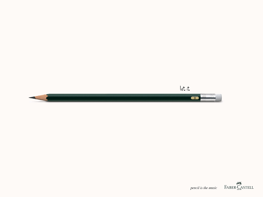 Faber-Castell - campagna pubblicitaria Beatles