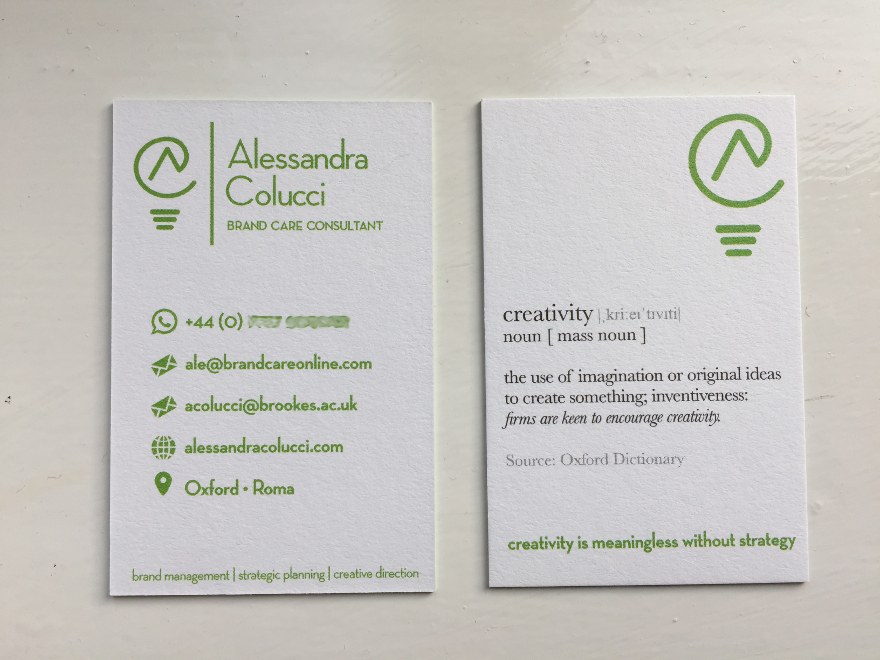 Alessandra Colucci - business card 2016