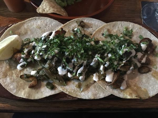 Belfast - La Taqueria - tacos con cactus e funghi