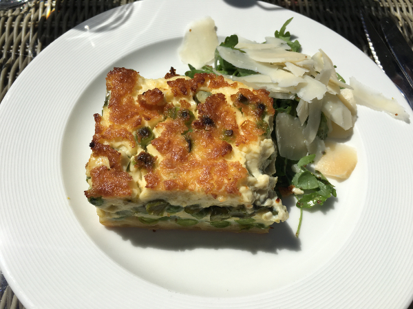 Burford - Bay Tree Restaurant - asparagus and pea quiche