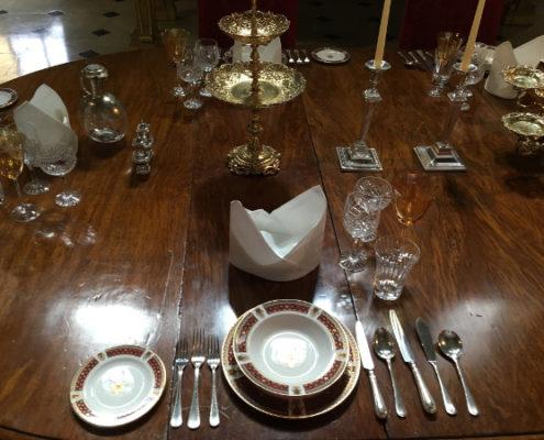 Woodstock - Blenheim Palace - allestimento tavola