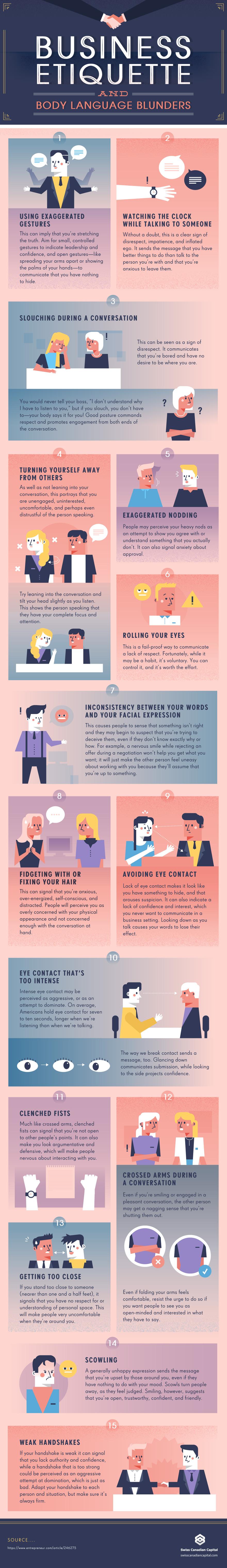 Business Etiquette - infographic