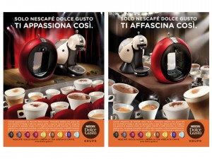 Nescafé Dolce Gusto campagna stampa 2010