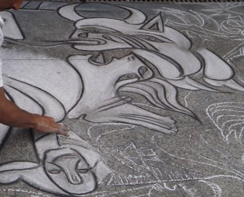 Santander - street art: riproduzione di Guernica [Pablo Picasso]