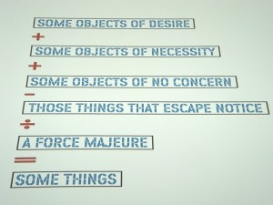 """MACBA: Lawerence Weiner """"Some objects of desire"""" 2004 - photo by Alessandra Colucci"""
