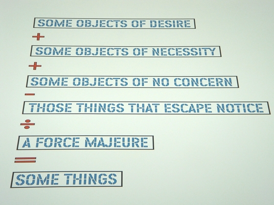 "MACBA: Lawerence Weiner ""Some objects of desire"" 2004 - photo by Alessandra Colucci"