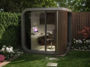 OfficePOD in giardino - via designheaven.wordpress.com