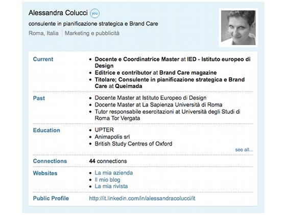 Alessandra Colucci - LinkedIn profilo in italiano