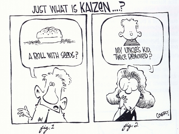 Cos'è il Kaizen? - cartoon via pncgroup.org