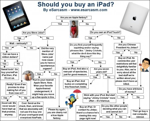 "Infograph ""Should you buy an iPad?"" by eSarcasm"