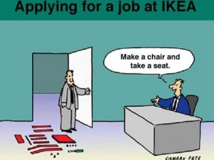 Lavorare da IKEA - cartoon via mickeymama08.blog.deejay.it