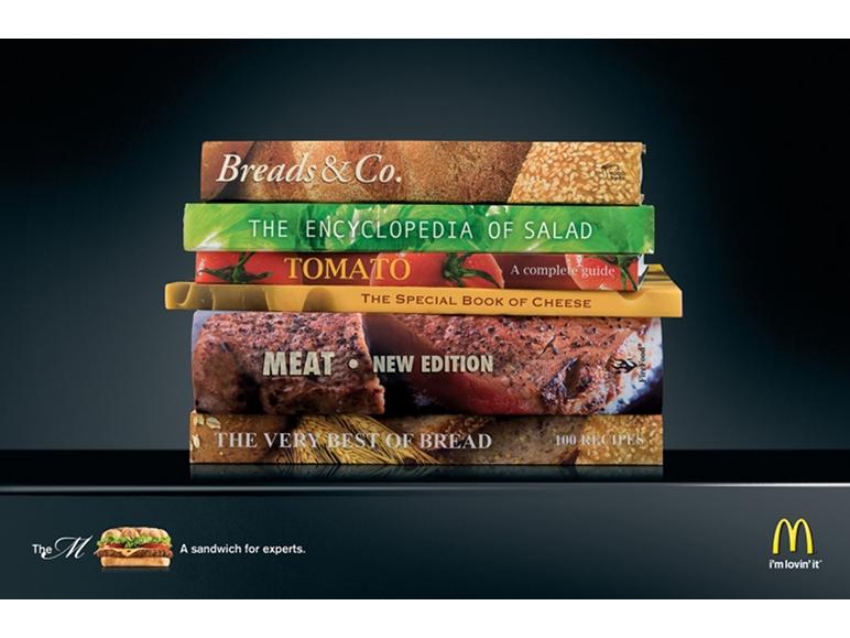 M Burger - campagna pubblicitaria McDonald's
