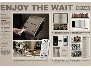 """a book """"Enjoy the wait"""" - campagna di sensibilizzazione alla lettura"""