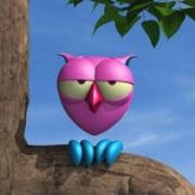 The owl - cartoon 3D