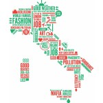 Italia tag cloud by Alberto Antoniazzi