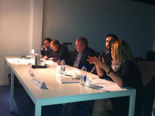 Da sinistra: Davide Bennato - Claudio Biondi - Sergio Brancato - Niko Demasi - Patrizia Farnetti