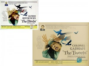 """The Birds"" vs ""The Tweets"" - Colonnello Gheddafi"