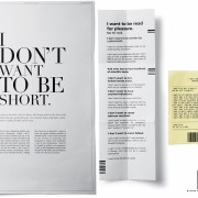 "Blooks Bookstore ""Iwant to be the text of a book"" - concept campagna pubblicitaria"