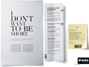 """Blooks Bookstore """"Iwant to be the text of a book"""" - concept campagna pubblicitaria"""