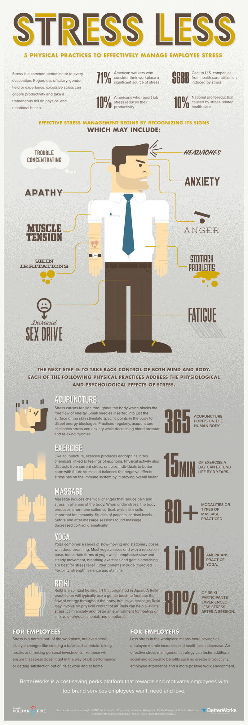 Stress Less - infographic