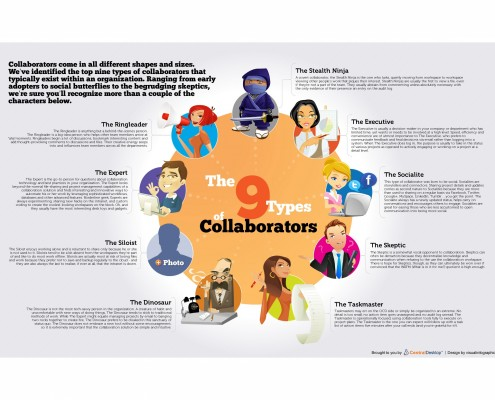 The 9 types of collaborators - infographic