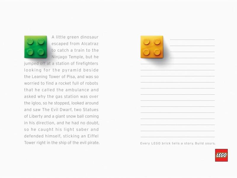 Lego - campagna pubblicitaria pagg 3-4