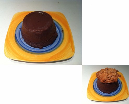 Budino al cioccolato... con cappello croccante