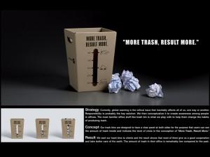 Y&R trash bin direct marketing - campagna di sensibilizzazione