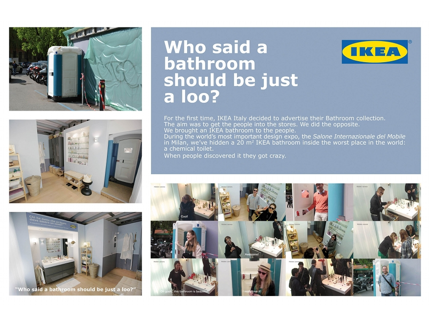 IKEA bagno - ambient marketing