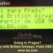 British Airways barcode reader ad - ambient marketing