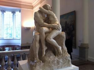 "Auguste Rodin ""Le baiser"""