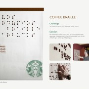 Starbucks - braille menu