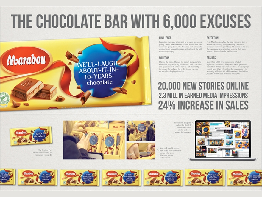 Marabou milk chocolate - ambient marketing