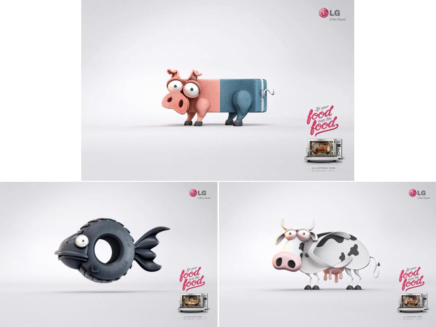 LG lightwave oven - campagna pubblicitaria